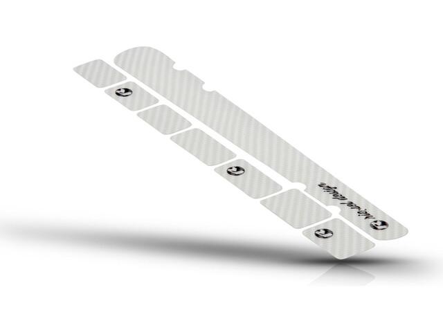 Riesel Design chain:guard set, carbon clear